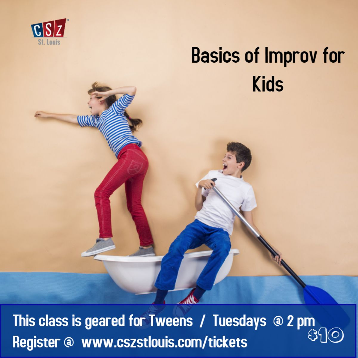 Basics of Improv for Kids (it is geared for Tweens) - Virtual class