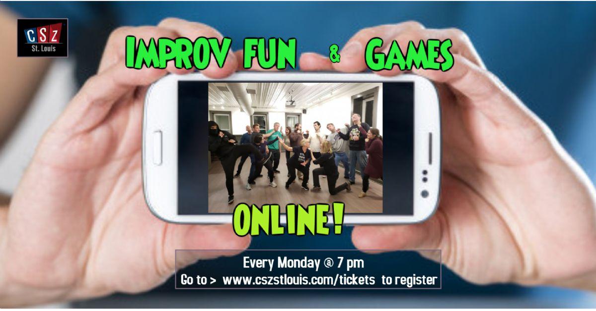 Virtual Improv Fun & Games Every Monday At 7 Pm