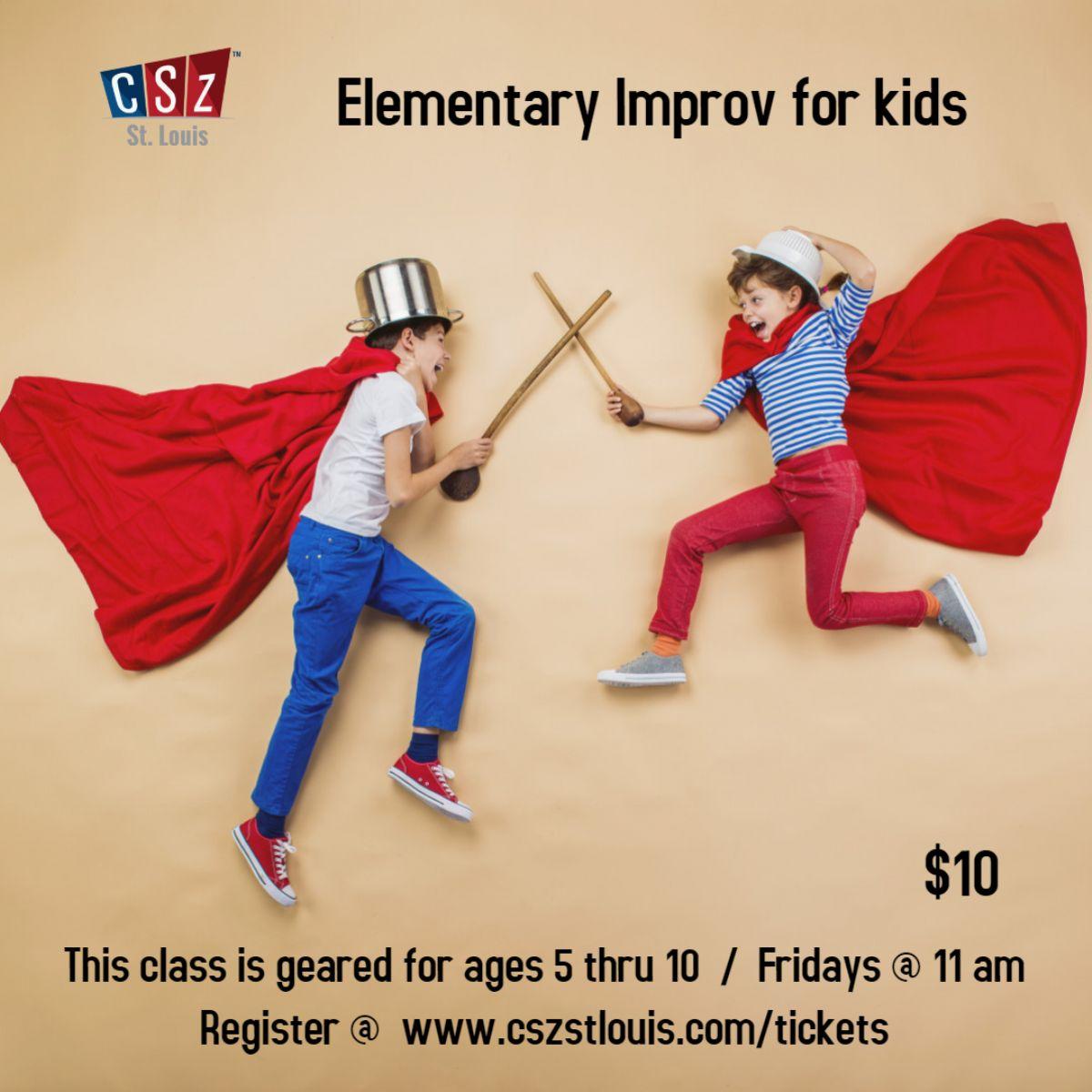 Elementary Improv for Kids - Virtual class