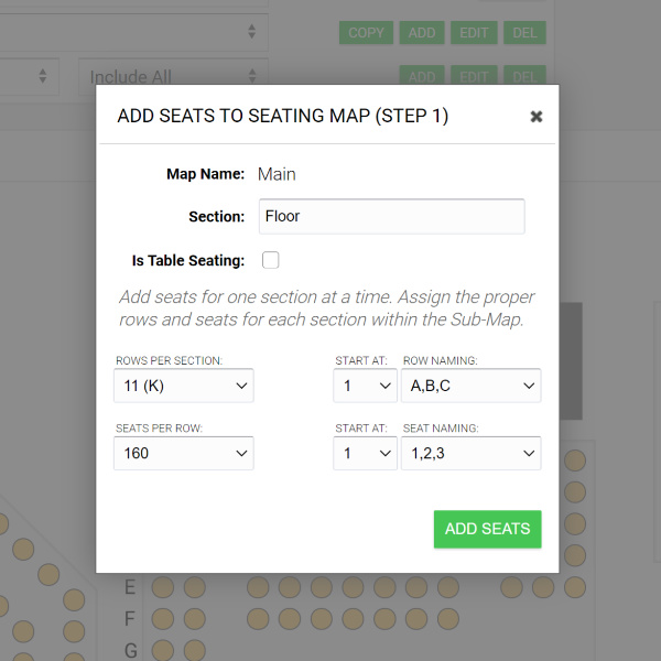 add seats to your seatmap