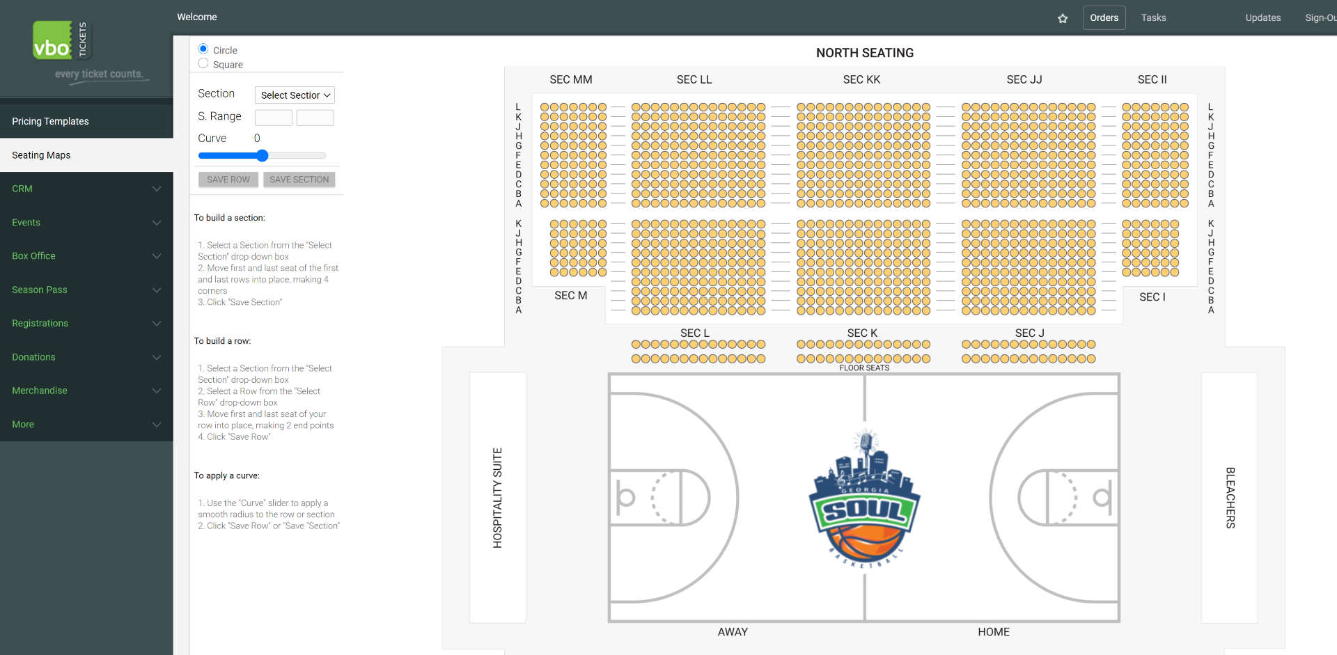 build a basketball seatmap