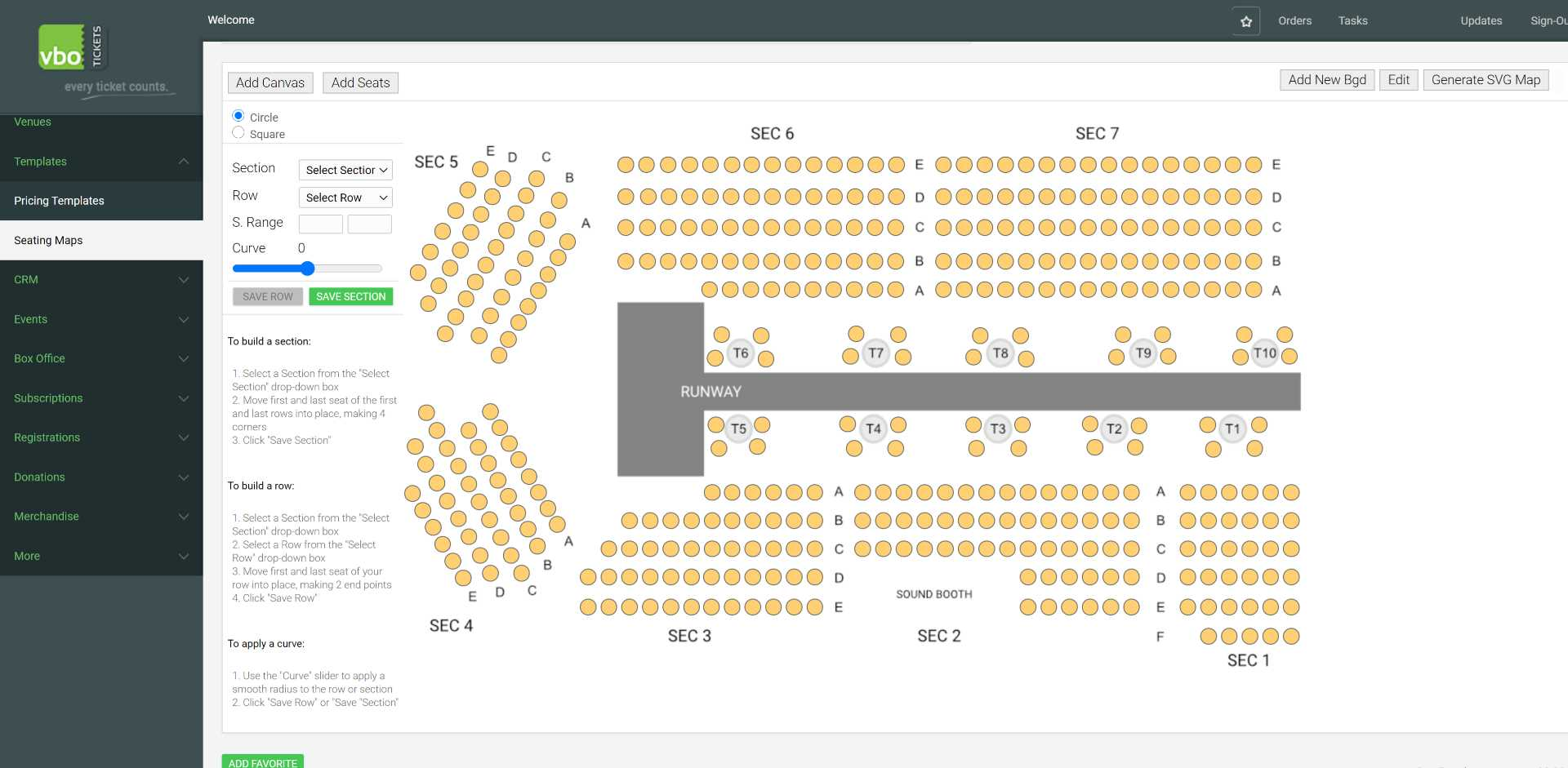 add table seats to any seatmap