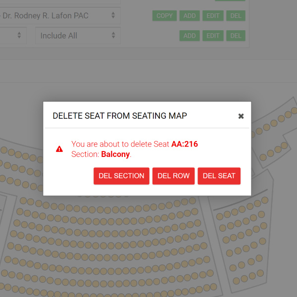 edit seats on your seatmap