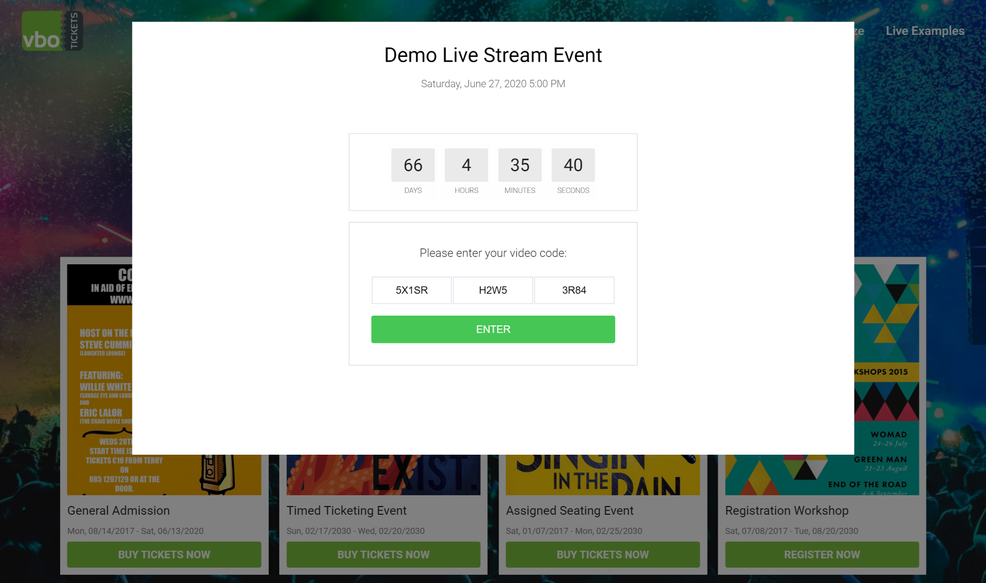 video streaming event access