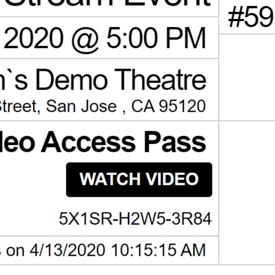 video access e-ticket
